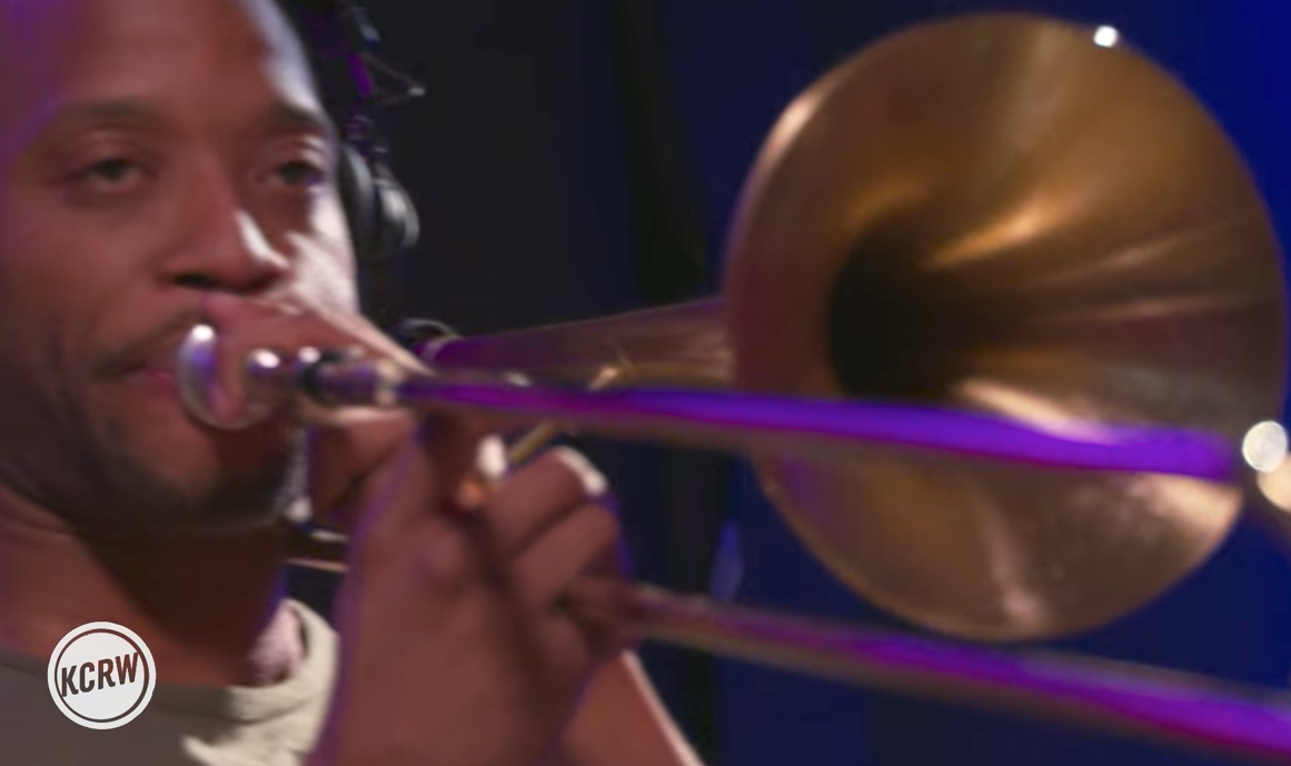 "Trombone Shorty Performs ""Tripped Out Slim"" Live on KCRW"