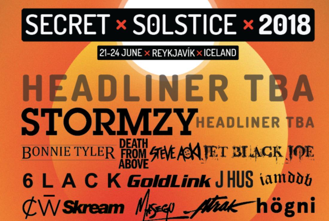 6lack, Goldlink, Steve Aoki Set To Headline Iceland's Secret Solstice 2018